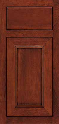 Bancroft Door Cherry Species Sable Stain inset Style