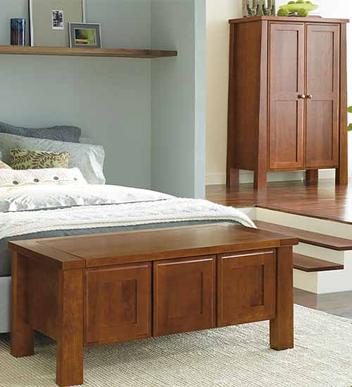 Monterey Bedroom Furniture in Cherry Species with Nutmeg Stain