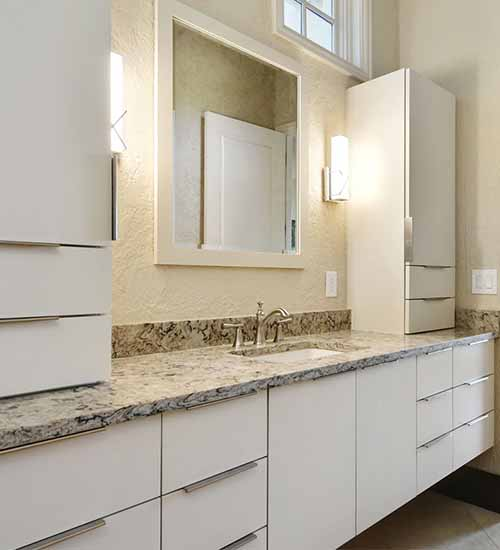 Vail Bathroom Vanity with lots of Storage  in Dove Opaque